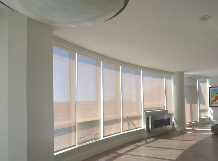Allan Residence Penthouse Motorized Curved Solar ShadesIntelligent Living  Technologies Inc We Are A Leader In The